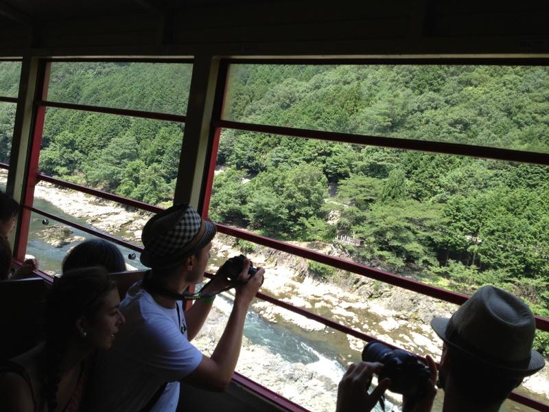 Hozu river and Hozu valley view