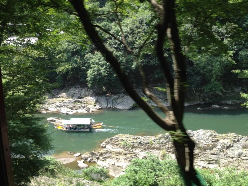Houseboat in Hozu river